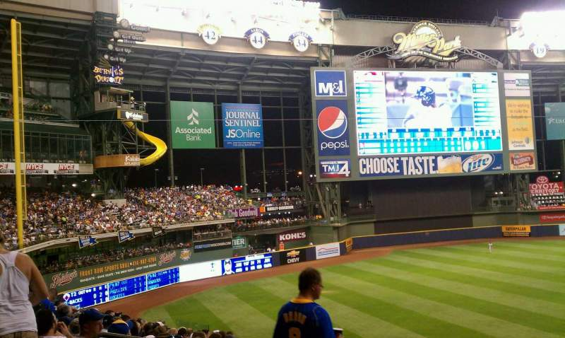 Seating view for Miller Park Section 227 Row 15 Seat 10