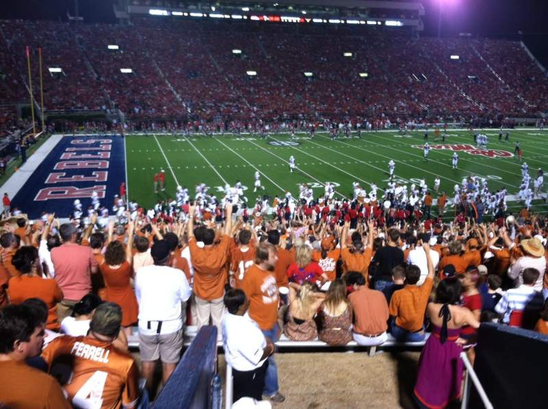 Seating view for Vaught-Hemingway Stadium Section R Row 34 Seat 20