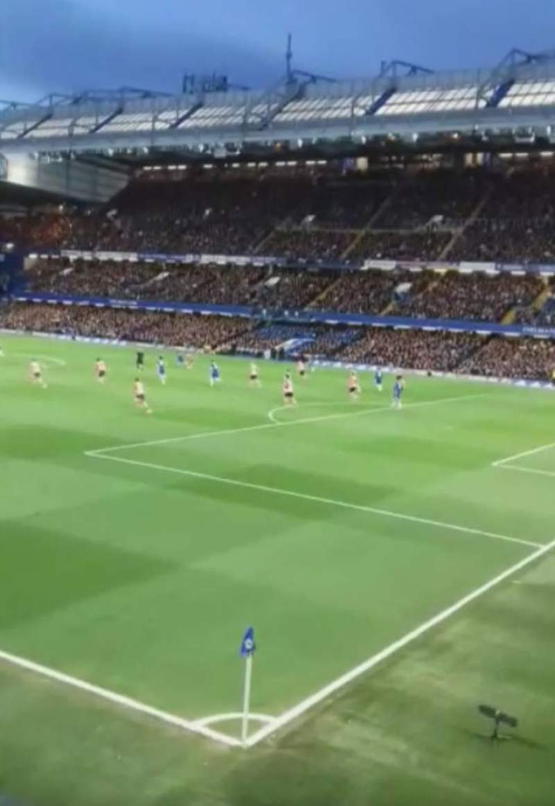 Seating view for Stamford Bridge Section Shed End Upper 7 Row 1 Seat 264
