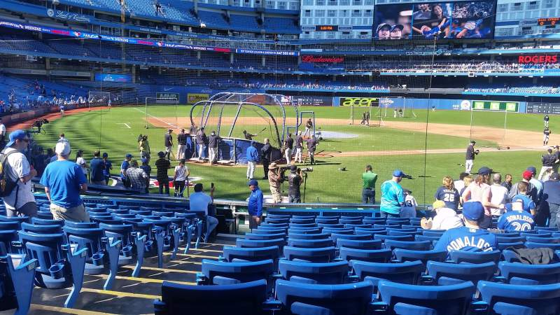 Seating view for Rogers Centre Section 120R Row 17 Seat 1