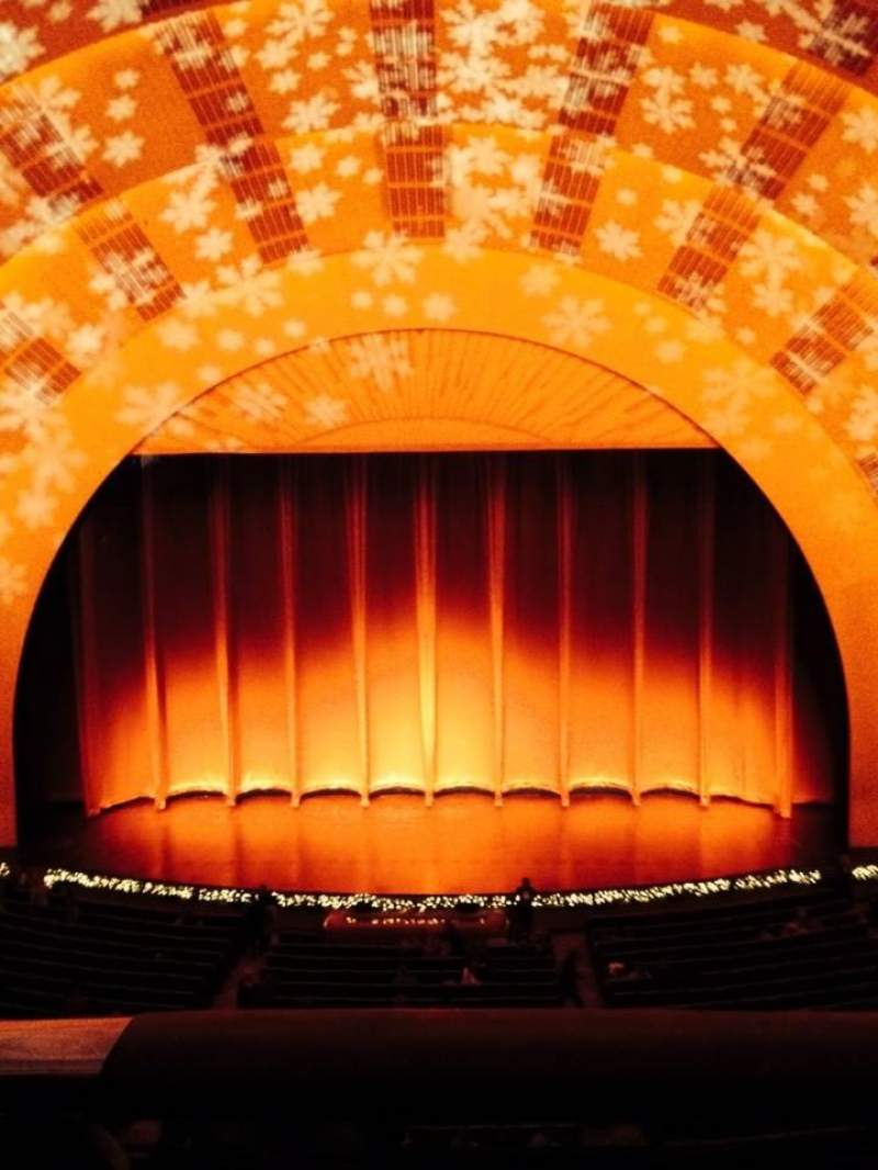 Seating view for Radio City Music Hall Section 2nd Mezzanine 4 Row A