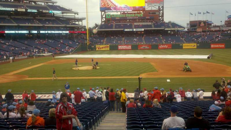 Seating view for Citizens Bank Park Section 116 Row 26 Seat 18