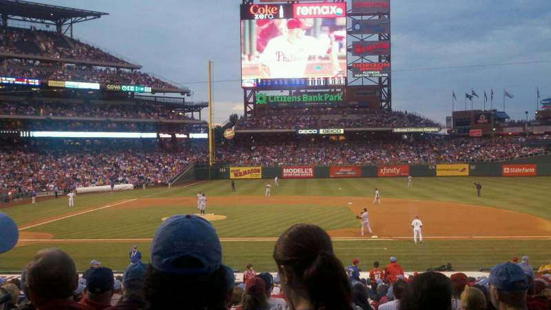 Seating view for Citizens Bank Park Section 116 Row 26