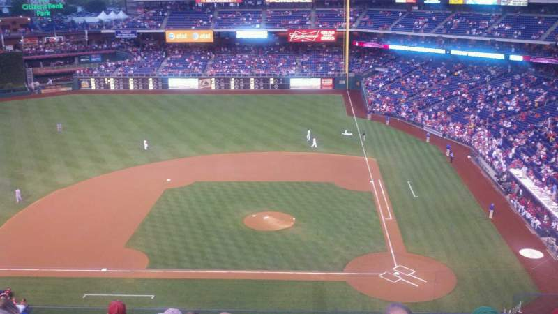 Seating view for Citizens Bank Park Section 325 Row 8 Seat 5