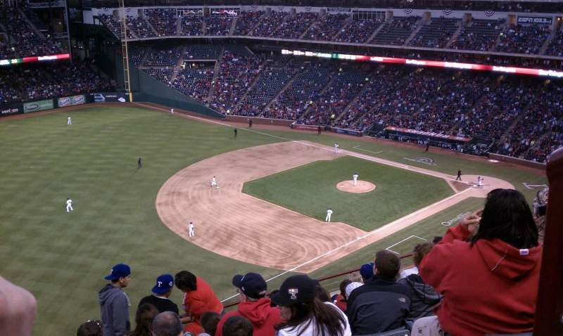 Seating view for Globe Life Park in Arlington Section 314 Row 22 Seat 1