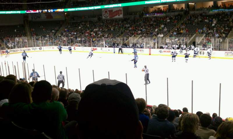 Seating view for Huntington Center Section 116 Row P Seat 2