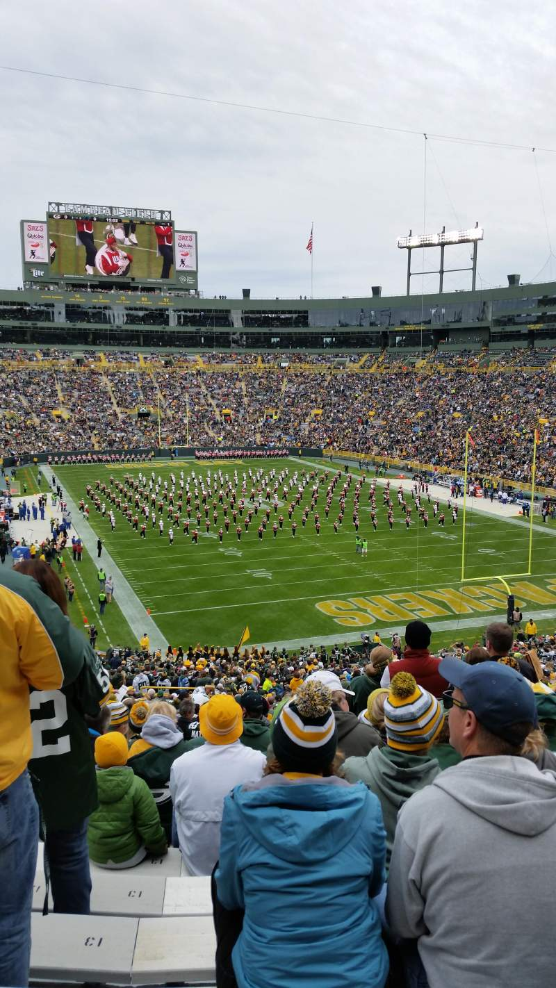 Seating view for Lambeau Field Section 136 Row 59 Seat 14