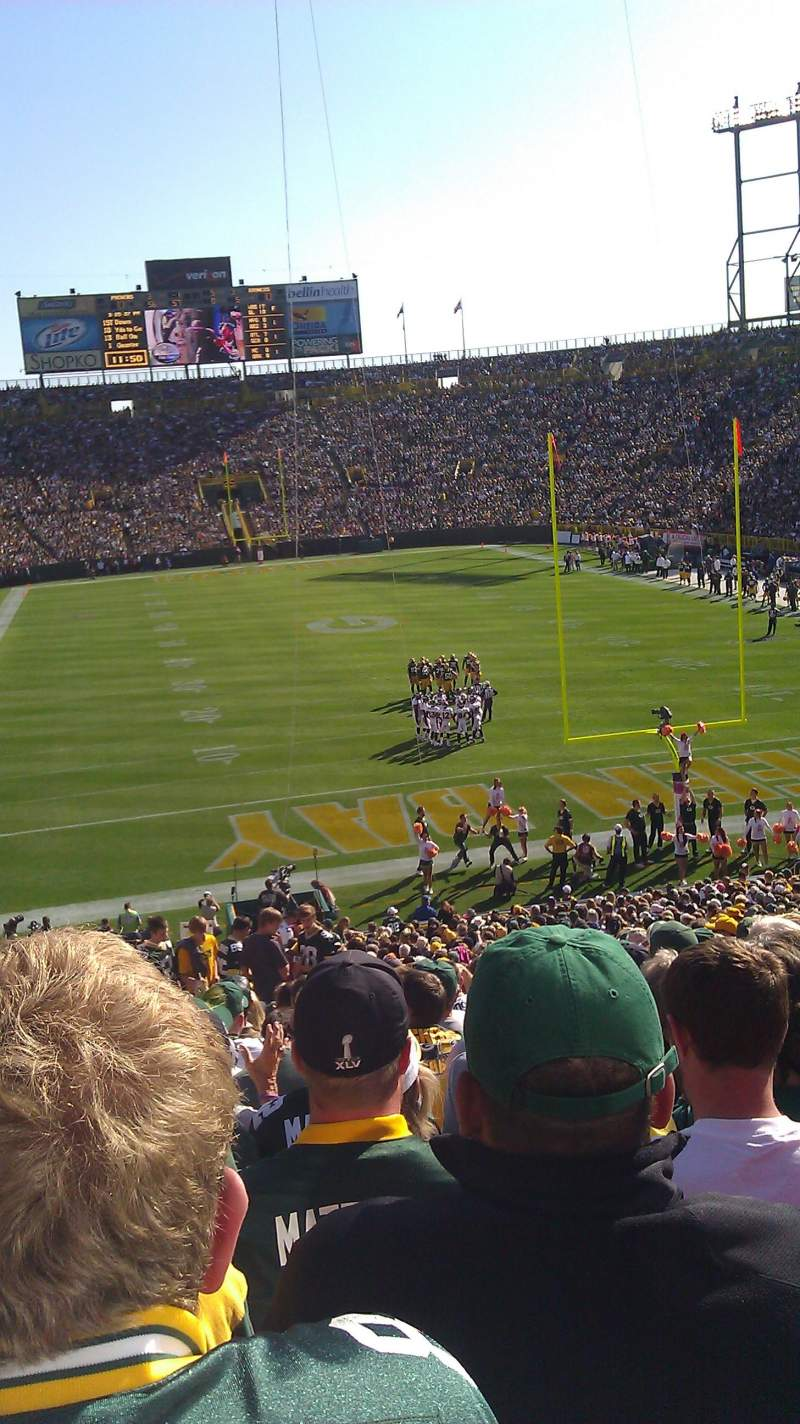 Seating view for Lambeau Field Section 101 Row 42 Seat 9