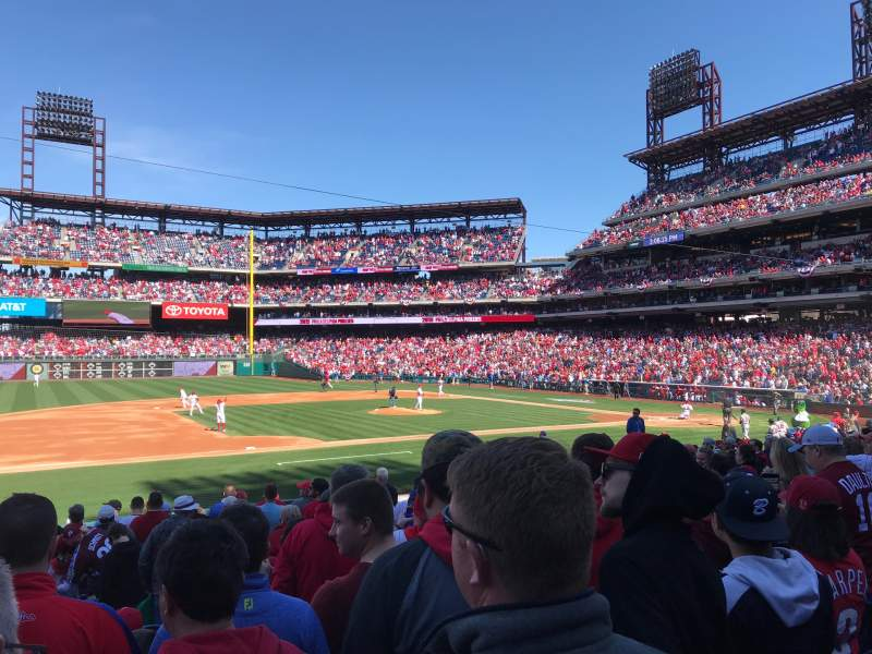 Seating view for Citizens Bank Park Section 132 Row 17 Seat 11
