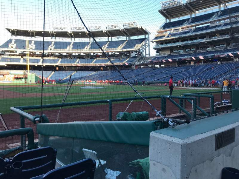 Seating view for Nationals Park Section 100 Row G Seat 26