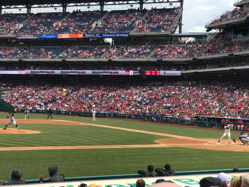 Seating view for Citizens Bank Park Section 131 Row 10 Seat 3
