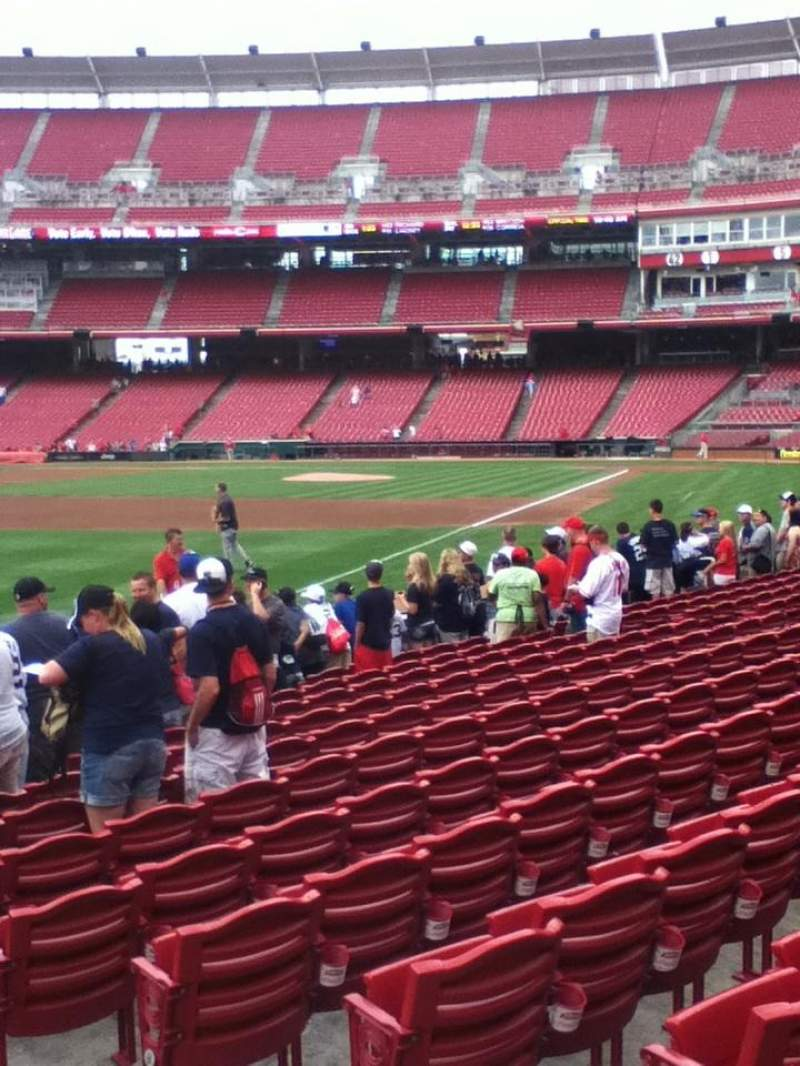 Seating view for Great American Ball Park Section 110 Row L Seat 3