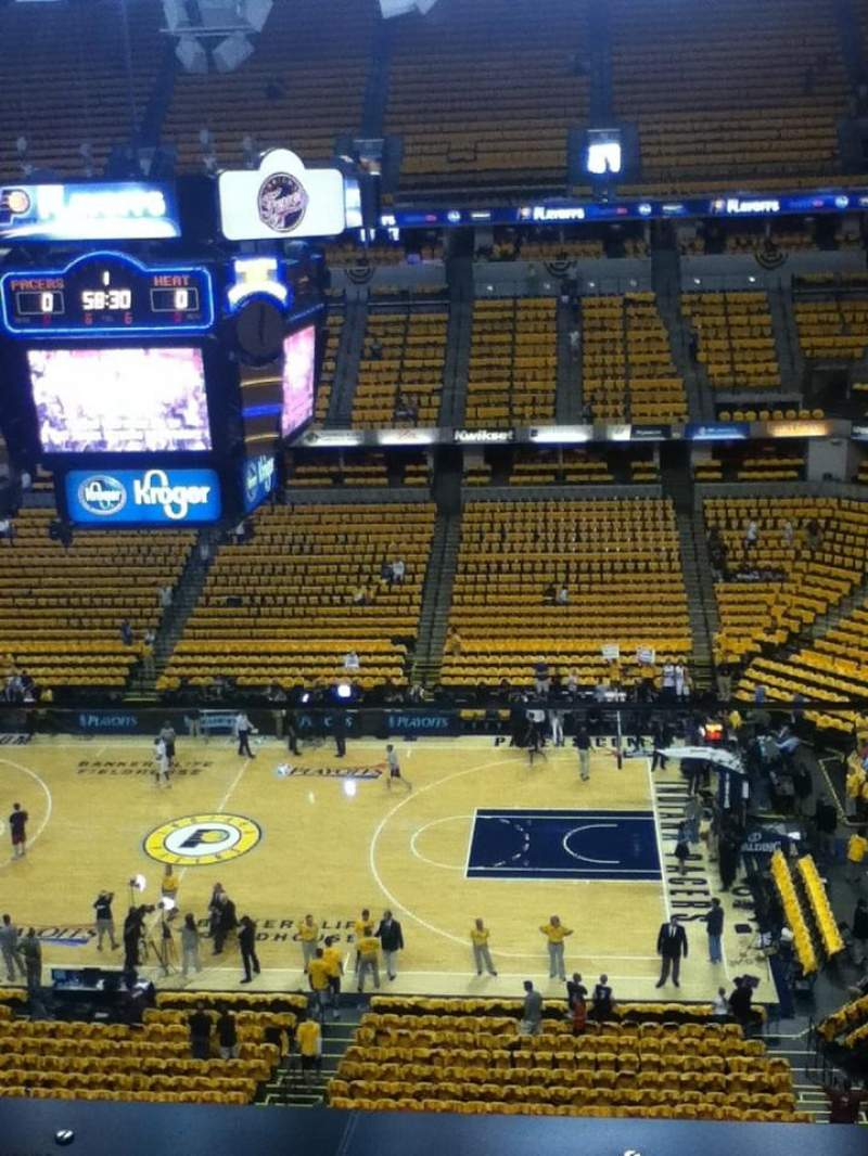 Seating view for Bankers Life Fieldhouse Section 224 Row 1 Seat 1