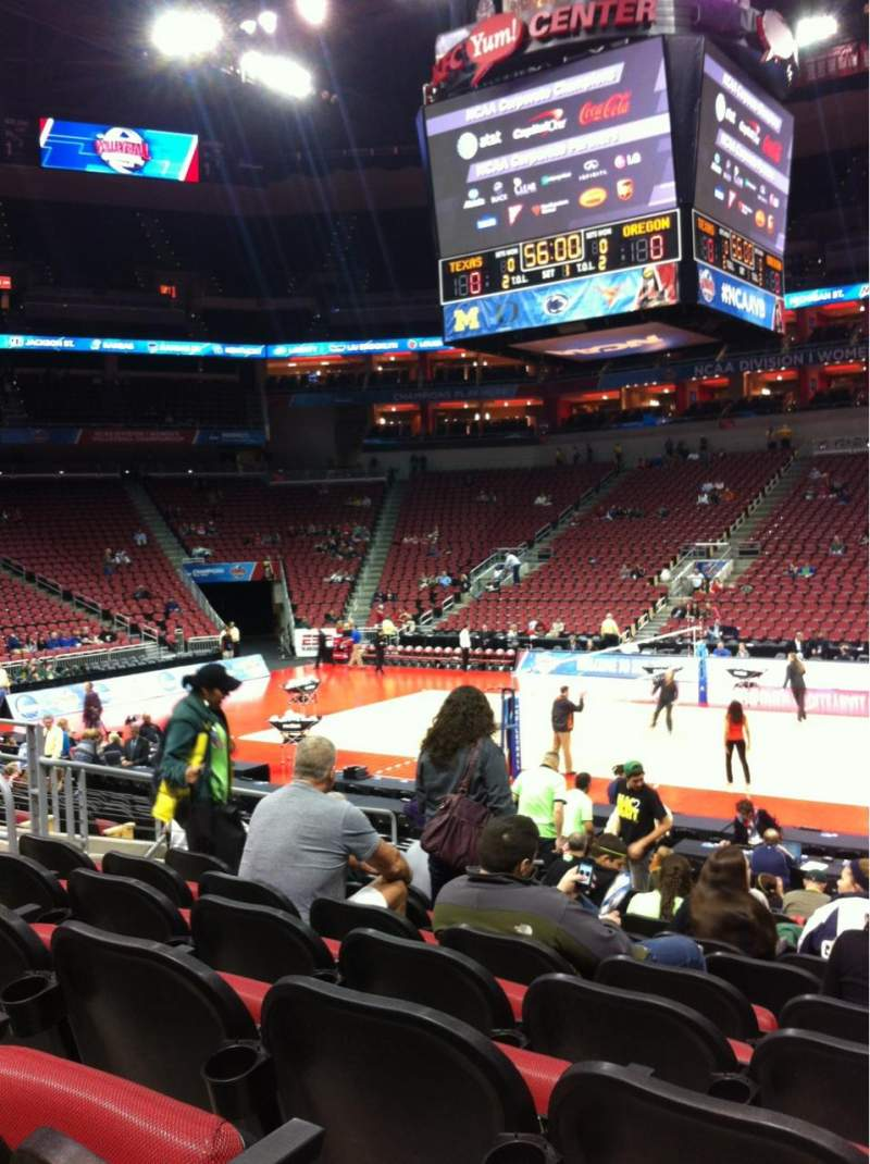 Seating view for KFC Yum! Center Section 105 Row S Seat 6