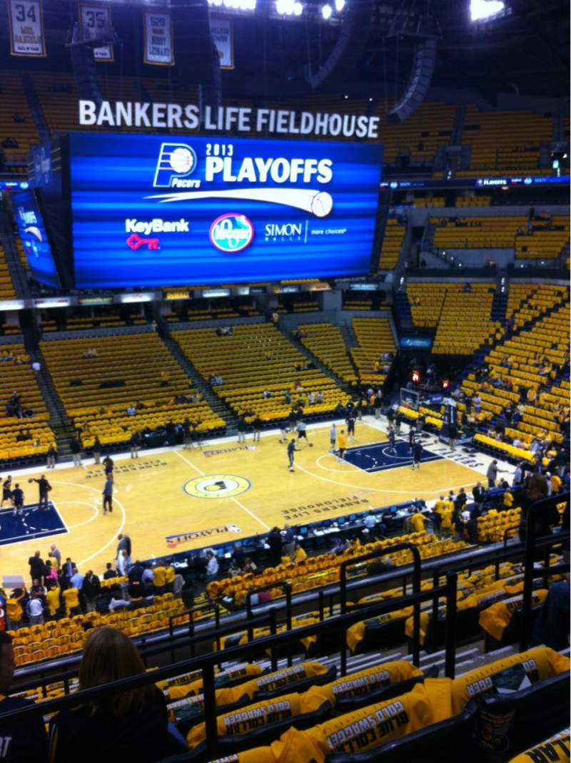 Seating view for Bankers Life Fieldhouse Section 105 Row 11 Seat 12