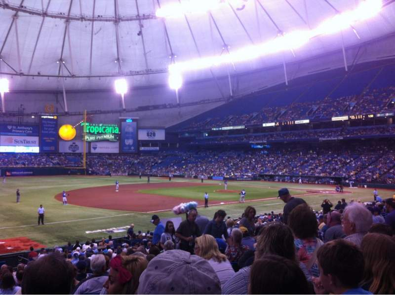 Seating view for Tropicana Field Section 127 Row CC Seat 9