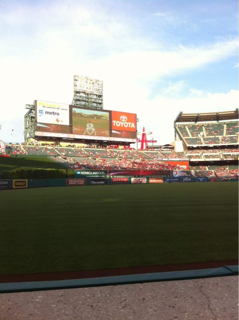 Seating view for Angel Stadium Section F105 Row A Seat 4