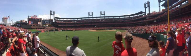 Seating view for Busch Stadium Section 171 Row 1 Seat 7