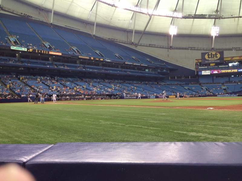 Seating view for Tropicana Field Section 120 Row D Seat 5