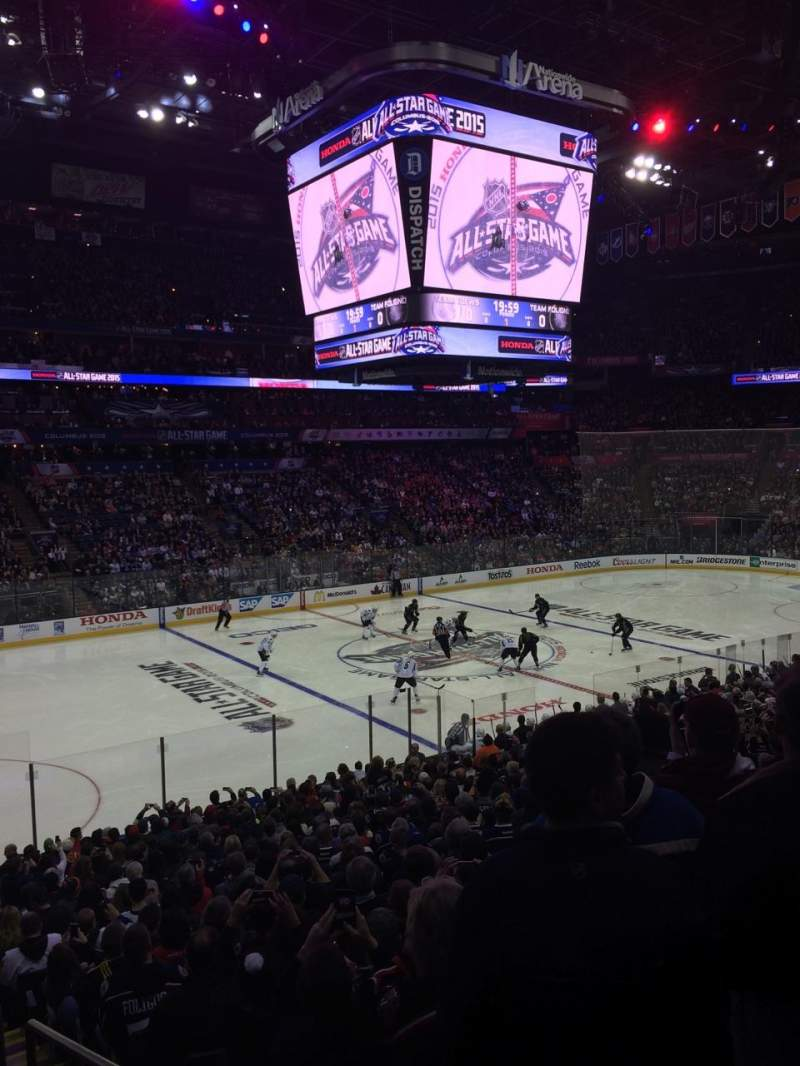 Seating view for Nationwide Arena Section 106 Row X Seat 1