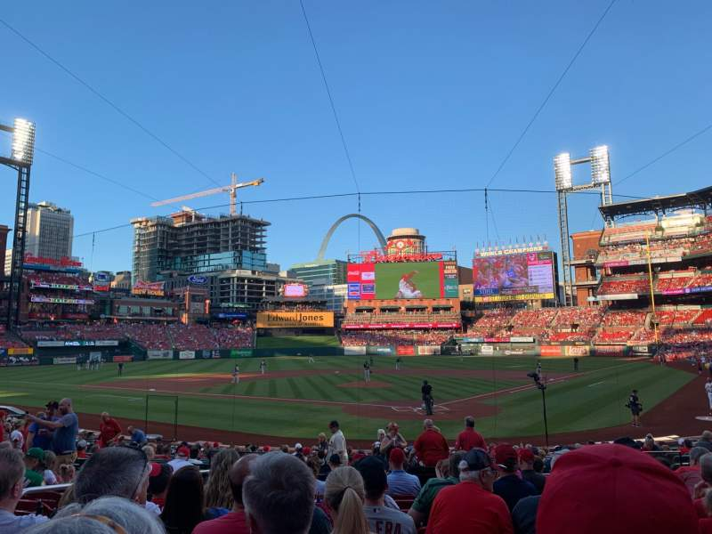 Seating view for Busch Stadium Section 151 Row 10 Seat 9