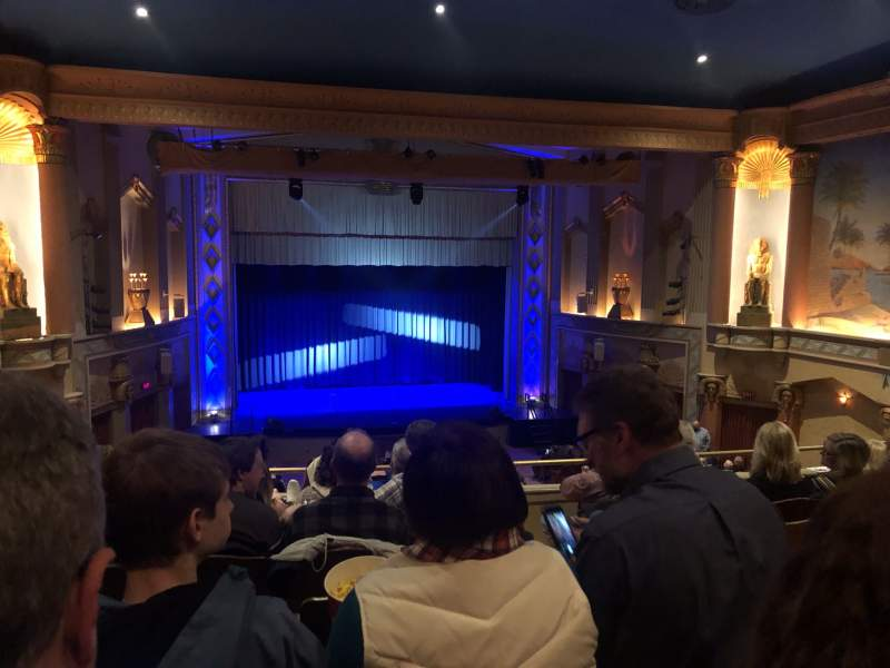 Seating view for Egyptian Theatre (DeKalb) Section Lower Balcony Row G Seat 25