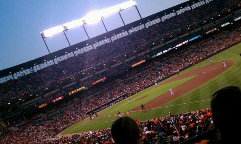 Seating view for Oriole Park at Camden Yards Section 9 Row 2 Seat 3