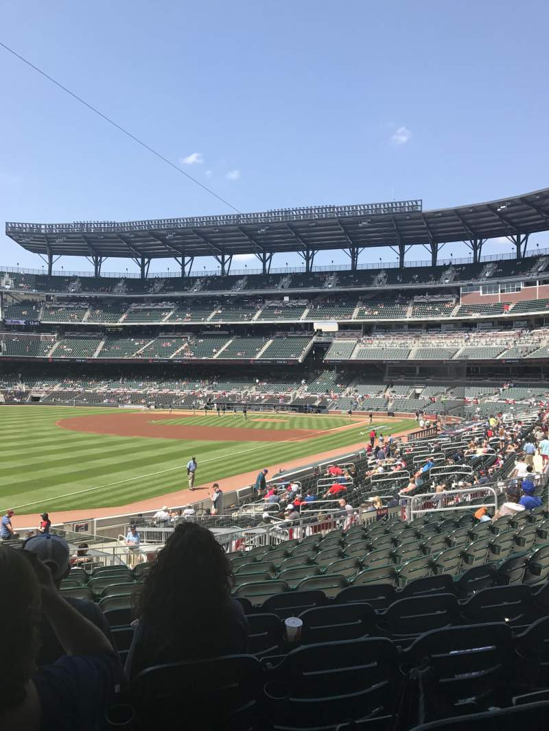 Seating view for Truist Park Section 141 Row 11 Seat 20