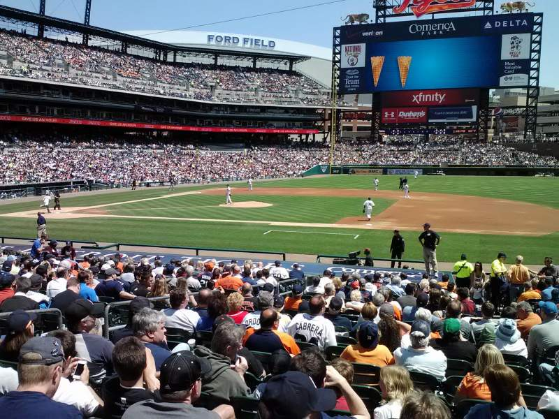 Seating view for Comerica Park Section 120 Row 28 Seat 6