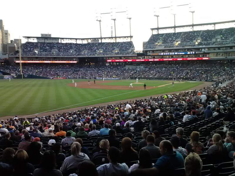Seating view for Comerica Park Section 141 Row 22 Seat 5