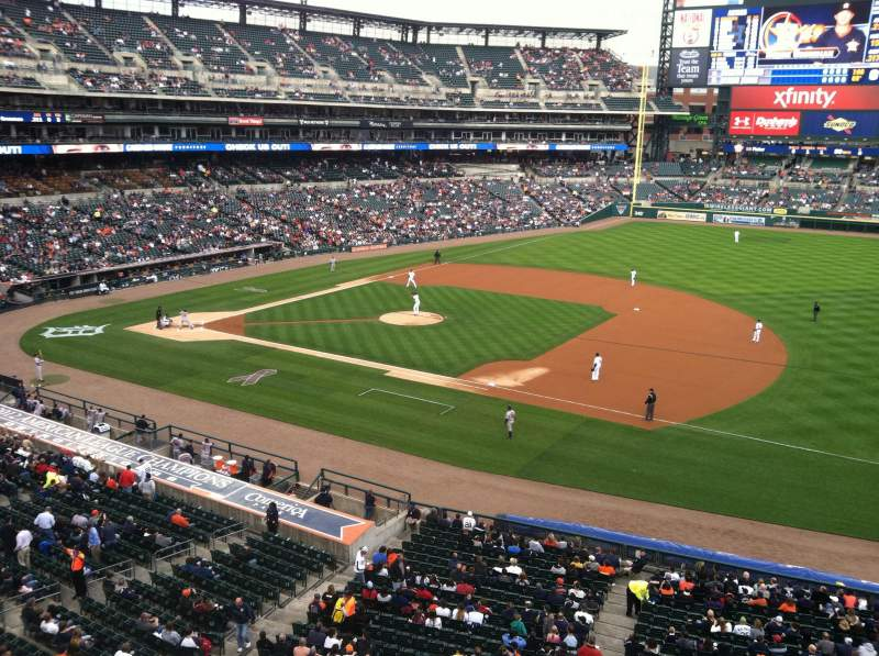 Seating view for Comerica Park Section 218 Row A Seat 13
