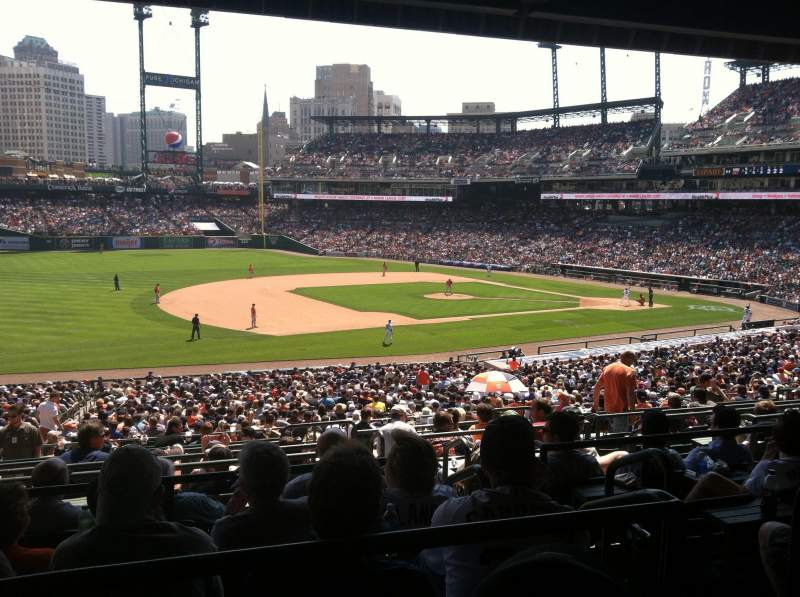 Seating view for Comerica Park Section 137B Row H Seat 3