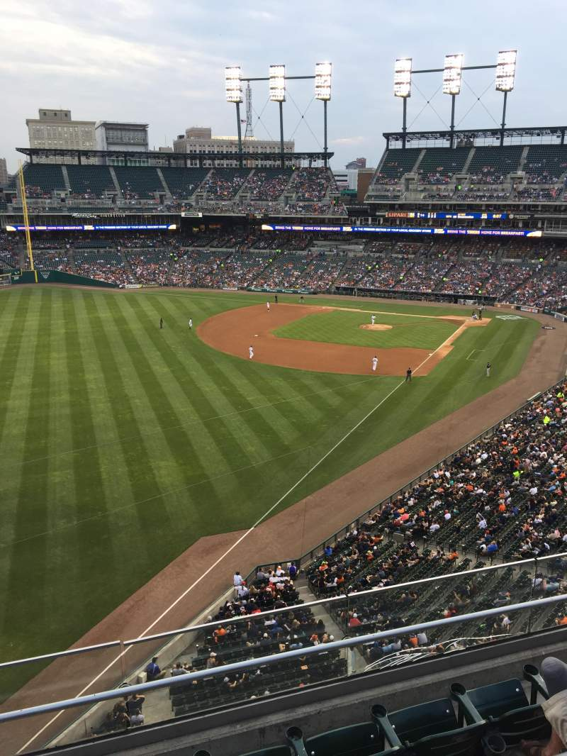 Seating view for Comerica Park Section 344 Row Handicapped Seat a