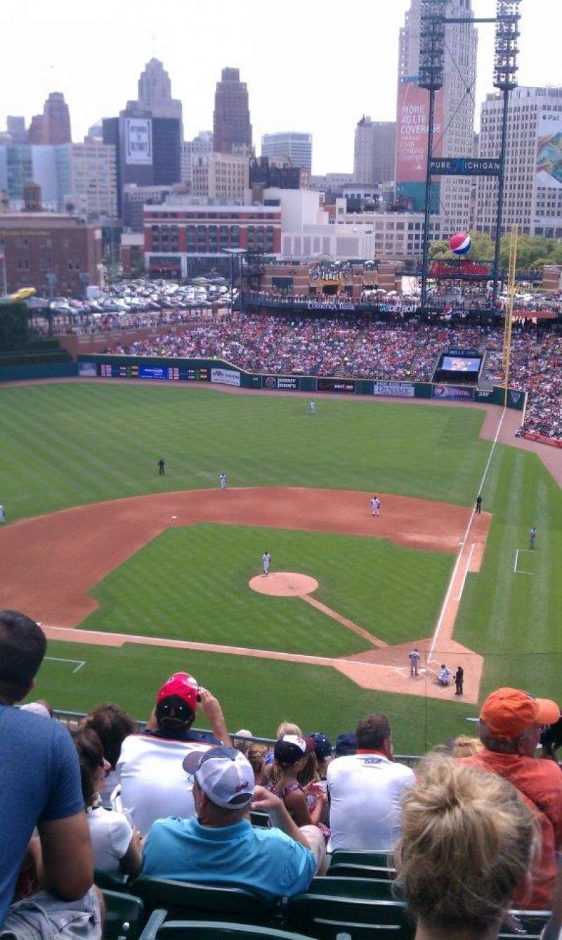 Seating view for Comerica Park Section 331 Row 10 Seat 11