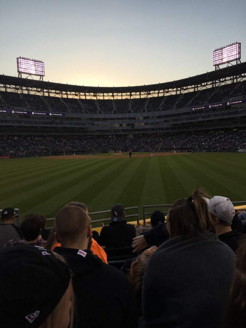 Seating view for Guaranteed Rate Field Section 164 Row 7 Seat 9