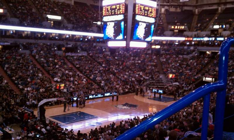 Seating view for Target Center Section 116 Row x Seat 2