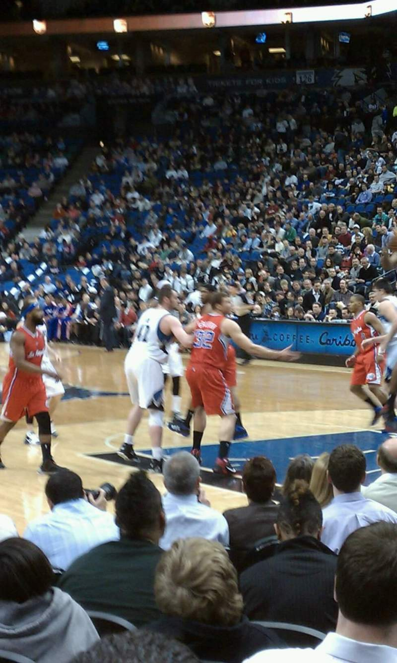 Seating view for Target Center Section 106 Row 7 Seat 2