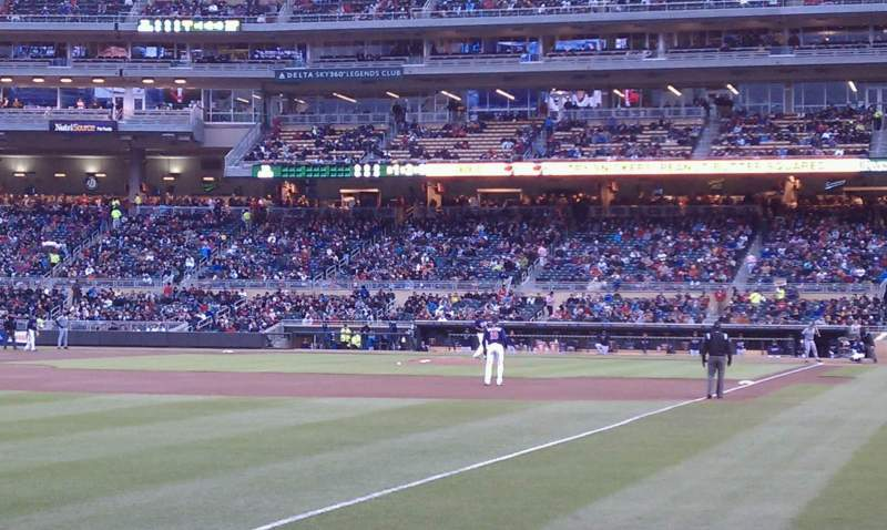 Seating view for Target Field Section 126 Row 5 Seat 11