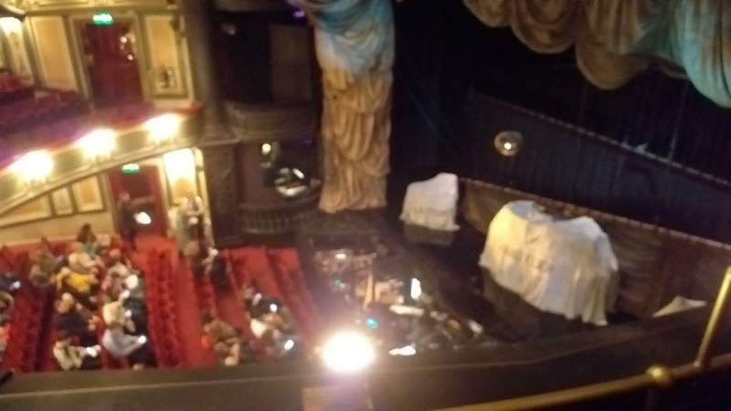 Seating view for Her Majesty's Theatre Section Grand Circle Row B Seat 2