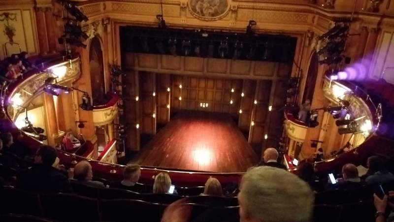 Seating view for Gielgud Theatre Section Grand Circle Row F Seat 13