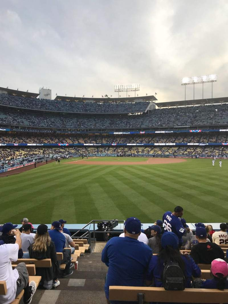 Seating view for Dodger Stadium Section 306PL Row M Seat 1