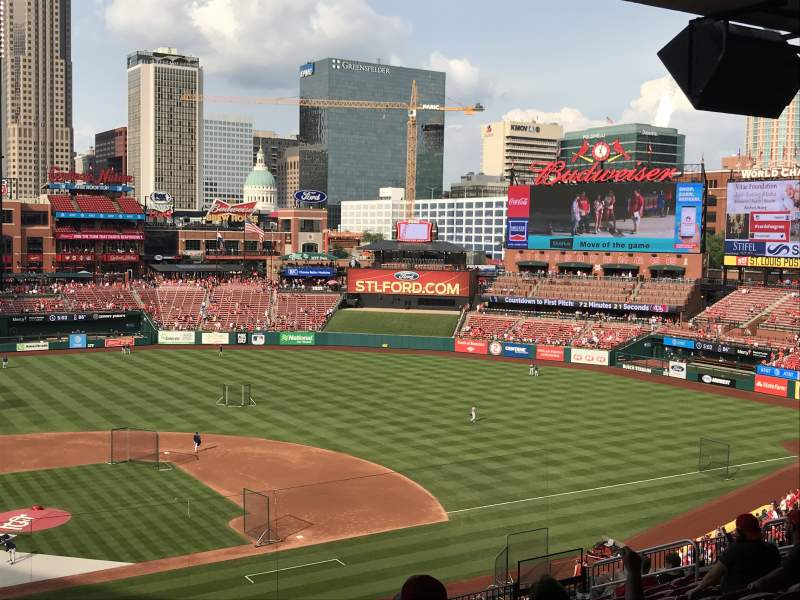 Seating view for Busch Stadium Section 248 Row 12 Seat 2