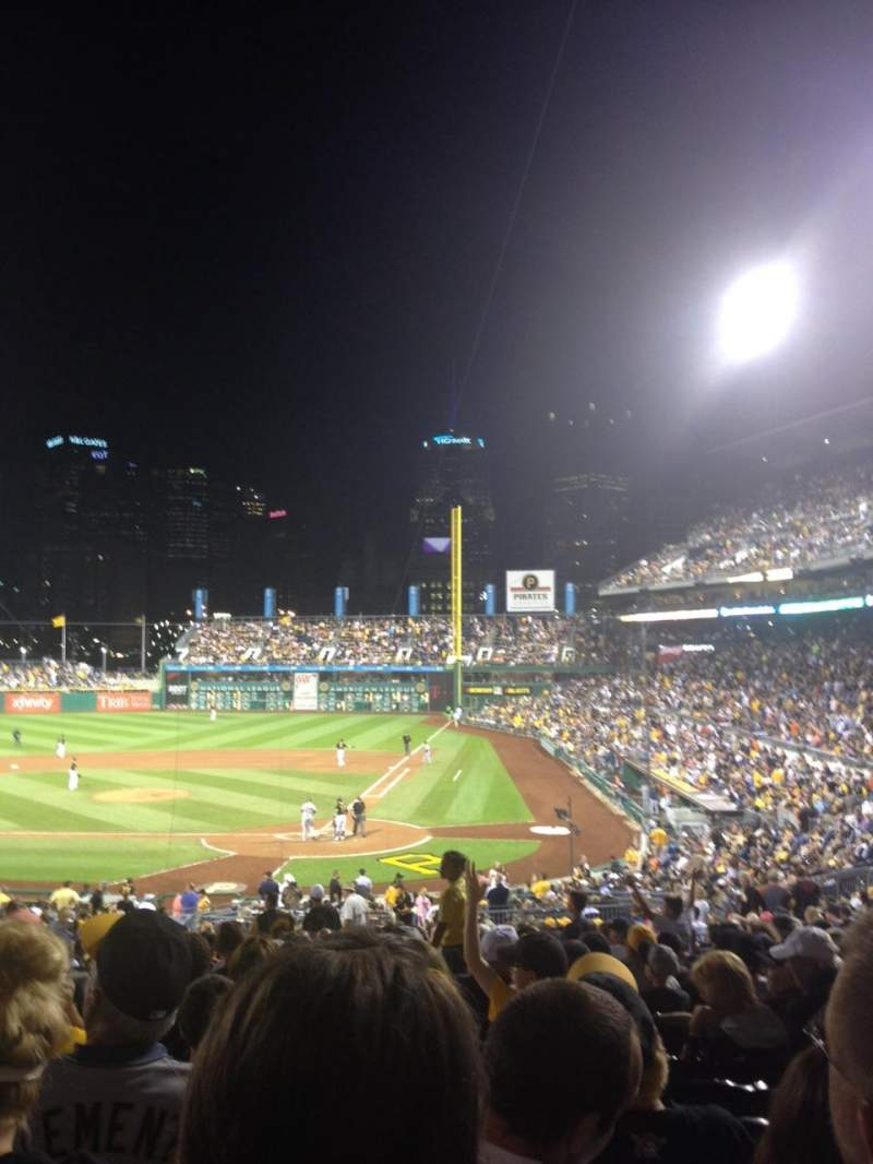 Seating view for PNC Park Section 119 Row CC Seat 13