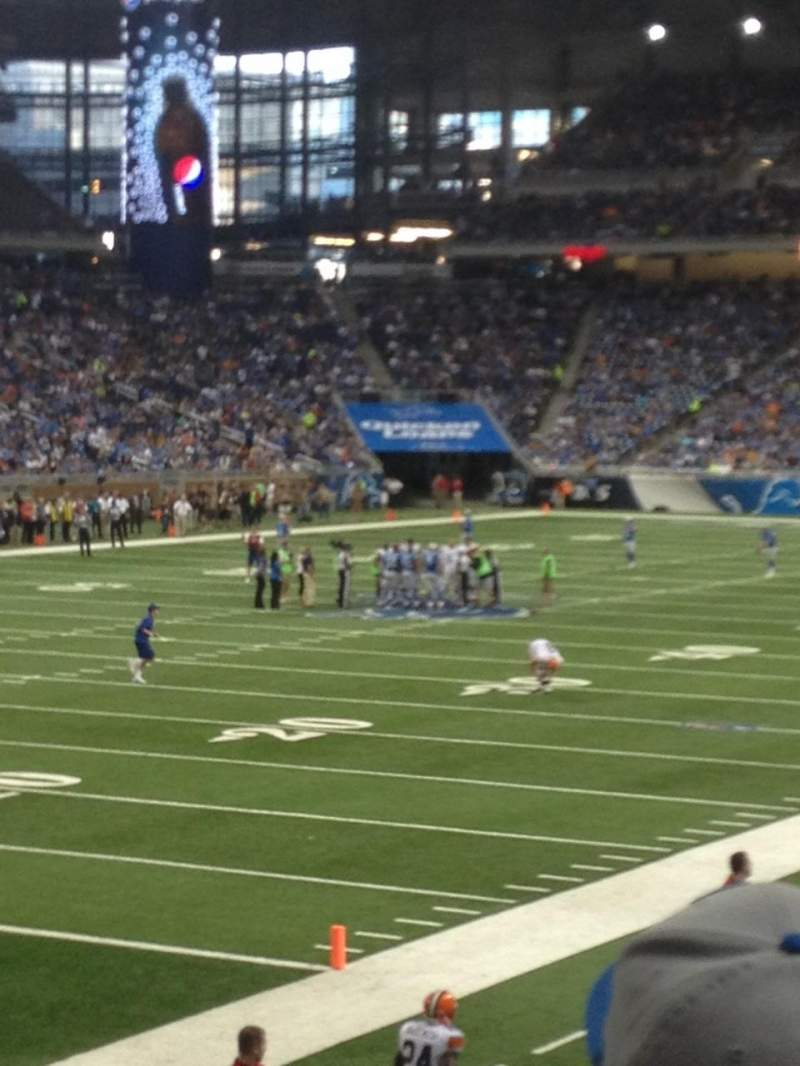 Seating view for Ford Field Section 120 Row 18 Seat 11