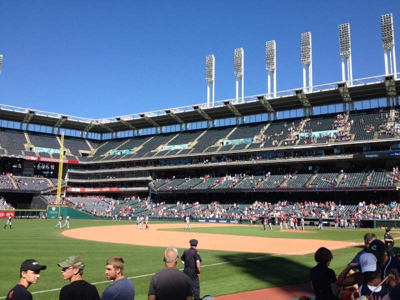 Seating view for Progressive Field Section 170 Row F Seat 7