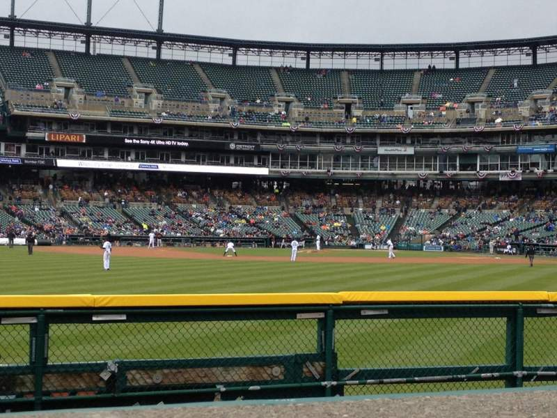 Seating view for Comerica Park Section 150 Row A Seat 5