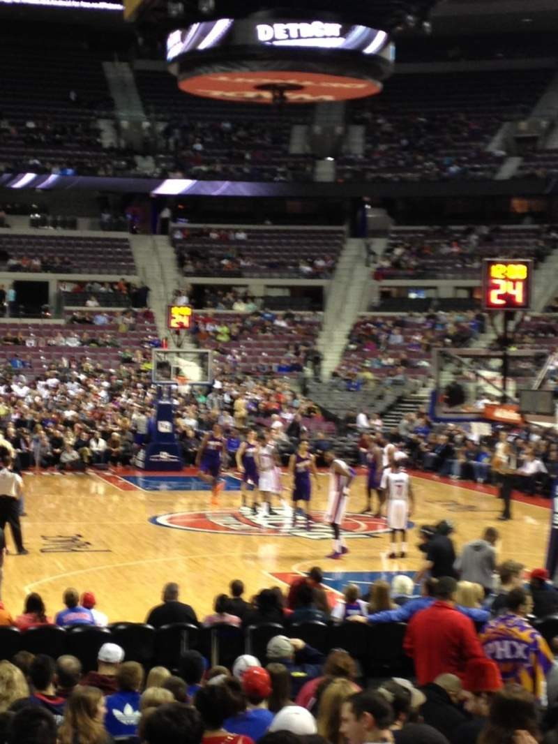 Seating view for The Palace of Auburn Hills Section 108 Row C Seat 5