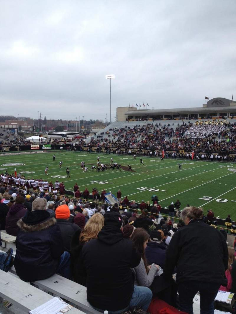 Seating view for Waldo Stadium Section A Row 17 Seat 7