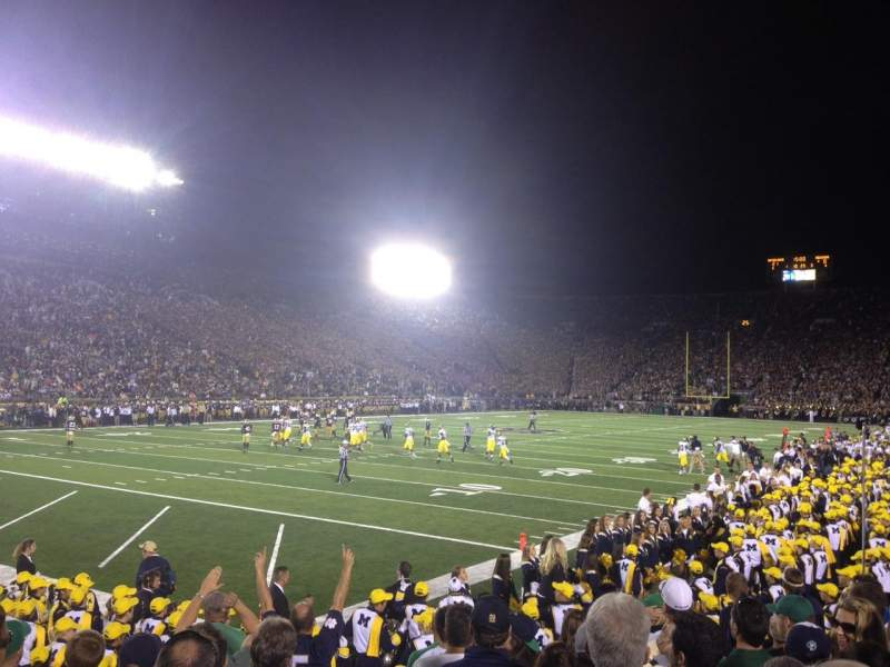 Seating view for Notre Dame Stadium Section 15 Row 13 Seat 9*