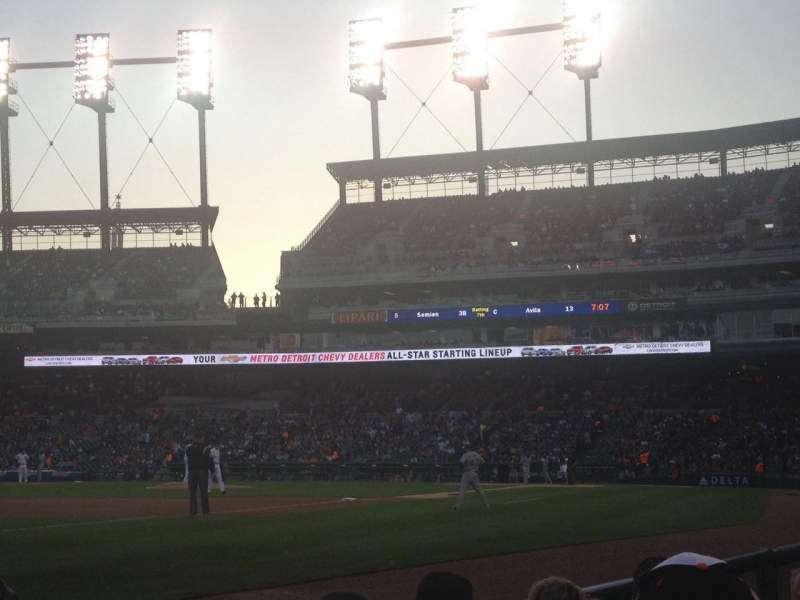 Seating view for Comerica Park Section 138 Row 3 Seat 20